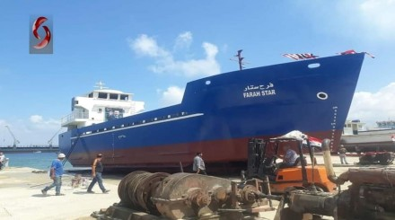 What is the truth about the manufacture of a naval vessel in the Syrian city of Baniyas?